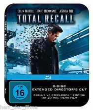 TOTAL RECALL (Colin Farrell, Kate Beckinsale) Blu-ray Disc, Steelbook NEU+OVP