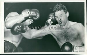 1950s Archie Moore Boxing Action Original News Service Photo