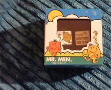 MR TICKLE MR MEN CUFFLINKS CUFF LINKS IN METAL DISPLAY BOX  GREAT CONDITION