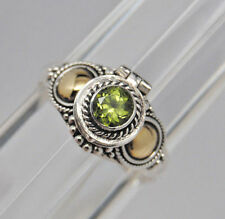 GREEN PERIDOT CREMATION URN RING 10 STERLING SILVER CREMATION RING URN MEMORIAL