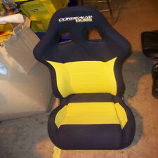 Corbeau Boss Recliner Seat, Black / Yellow,  Non Fia  *Ex-Display* Road / Track