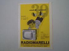 advertising Pubblicità 1960 TELEVISORE RADIOMARELLI