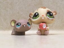 Littlest Pet Shop LPS  #1888 Hamster And #1889 Mouse Preowned