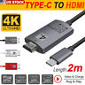 USB 3.1 Type C USB-C to HDMI HDTV 4K Adapter Cable for Samsung Galaxy S8 Macbook