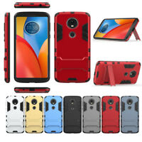 2In1 Hybrid Armor Kickstand Case Cover For Motorola Moto X4 G6 G6 Play E5 E5Plus