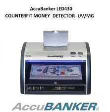 Accubanker D430 Fake Counterfeit Bill Money Cash Card Detector LED UV Store Shop