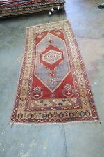Antique Turkish Melas Milas Yastic Oushak Hand Knotted Wool Rug 3'4 x 7'5
