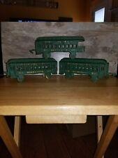 Vintage Cast Iron Toy Train Passenger Cars (3) Pennsylvania Rr Two Have Damage