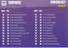 Fortnite Checklist Inhalts Karte 97 Serie 1 Basis 101 bis 150 Trading Card