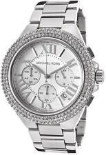 michael kors mk5634 camille silver tone crystal glitz armbanduhr kostenloser versand
