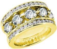 2.67 ct Round Diamond Wedding Ring Anniversary 18k Yellow Gold Band Vs clarity