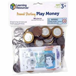 Pretend & Play HM Treasury Approved UK Money 96 Piece pack - Coins and Notes
