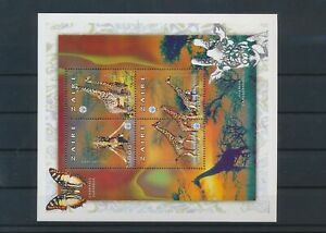 LN50446 Zaire giraffe animals wildlife good sheet MNH