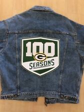 "GREEN BAY PACKERS 100 SEASONS PATCH XLG 11 1/2"" JACKET STYLE 100th SEASON"