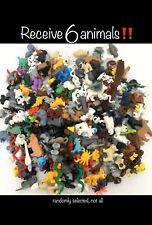 Lego Lot : Town City Castle Zoo Minifigure Pets Small Animal Animals : 6 Random