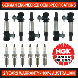 6x Genuine NGK Platinum Spark Plugs & 6x Ignition Coils for Holden Commodore VZ