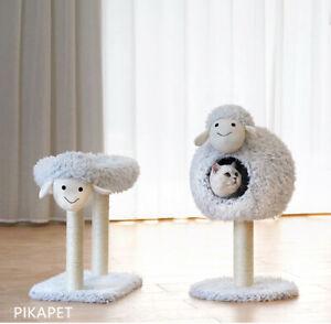 Little Sheep Cat Bed Scratch Tree Kitten Adult Toy AU STOCK