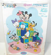Vintage Jaymar Disney Babies Giant Free Form Puzzle 12 Thick Pieces - New Htf
