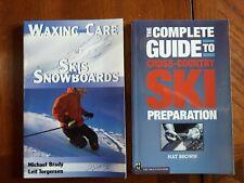 2 Pb Books on Ski Wax Prep Cross-Country Ski Snowboards Leif Torgersen Nat Brown