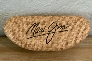 Maui Jim Sunglasses Case Hard Clamshell Tan Brown - Case Only