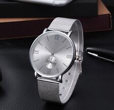 Uhr Armbanduhr Analog Modisch  Rund Watch Damen Quartz Damenuhr Silber