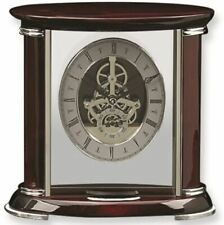 New Bey-Berk Int'l LUXEMBURG #CM686 Rose-tone Wood SKELETON Mantle Clock