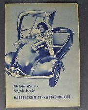 1955 Messerschmitt KR 175 KR 200 Brochure Folder German Text Original 55