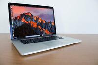 """Apple MacBook Pro 15"""" Retina Intel i7 Quad Core 256GB SSD / 8GB RAM 2880 x 1800"""