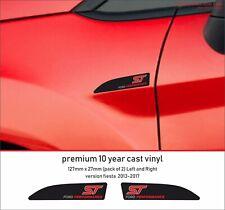 FORD FIESTA ST PERFORMANCE  Premium 10 Year Cast Vinyl Decals Stickers  x 2