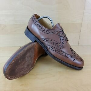 LOAKE MENS TAN BROWN LEATHER BROGUES MADE IN ENGLAND SHOES SIZE UK 10