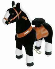 PonyCycle Kids Manual Ride on Horse Medium 4-9 Years Black w/ White Hoof NEW