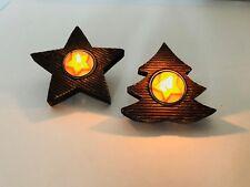 120 Stück Teelichthalter Holz Stern Tanne Mitgebsel Deko Kerzenhalter