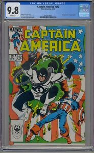 CAPTAIN AMERICA #312 CGC 9.8 1ST FLAG-SMASHER WHITE PAGES