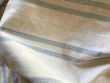 3 pcs cream blue stripe antique pillow ticking fabric Cotton 45x62,11x22,10x25