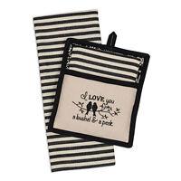 I LOVE YOU A BUSHEL & A PECK Dish Towel & Potholder Gift Set, by DII