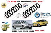 FOR SKODA FABIA COMBI ESTATE MODELS 2000-2015 NEW 2X REAR COIL SPRINGS SET