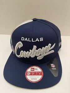 Dallas Cowboys NFL  Side Smack Men's Snapback Hat OSFA Navy