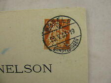 R-cover Switzerland Schweiz Perfin ''AZE'' Basel Gundeldingen to Paris 1933