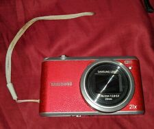 Samsung 16.3 MP Digital Camera 21x Zoom 3-Inch LCD Red EC-WB350FBPRUS WORKS RARE