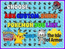 Choose Any Custom POKEMON Pack + Items + Gift Pokemon Sword Shield DLC