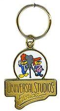 Universal Studios Florida Vintage Logo Keychain With Woody Woodpecker NEW