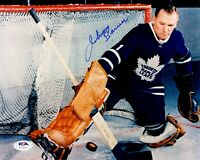 Johnny Bower autographed signed 8x10 photo NHL Toronto Maple Leafs PSA COA