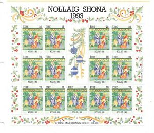Ireland - 1993 - Christmas issue - sheetlet of 13 - unmounted mint