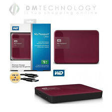 HARD DISK ESTERNO 2,5 1TB USB 3.0 WD MY PASSPORT ULTRA WILDBERRY WDBGPU0010BBY