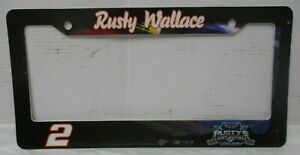 Rusty Wallace # 2 MILLER LITE LAST CALL LICENSE PLATE FRAME ! FREE SHIPPING !