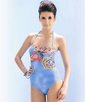 Seaspray Crete Strapless Halter Bandeau Jewel one piece Swimsuit Long Length 10
