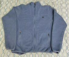Women's Ariat Fleece Lined Jacket Light Blue Logo Equestrian Size Medium