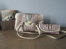 Brahmin Torey Matia Croc Embossed Leather Purse w/Soft Checkbook Wallet