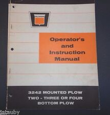 Oliver Operator'S And Instruction Manual 3242 Mounted Plow 2 3 Or 4 Bottom Plow