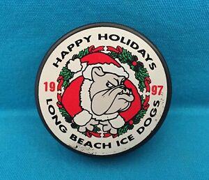 "LONG BEACH ICE DOGS 1997 ""HAPPY HOLIDAYS"" - HOCKEY PUCK"